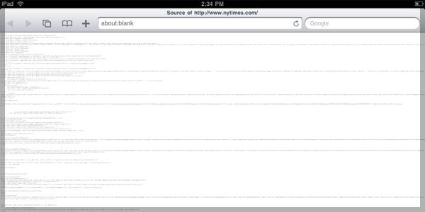Original iPad View Source Example