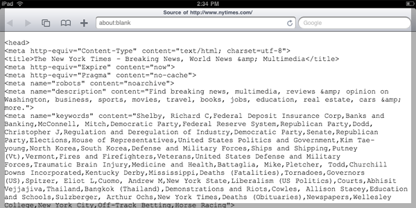 Revised iPad View Source Example